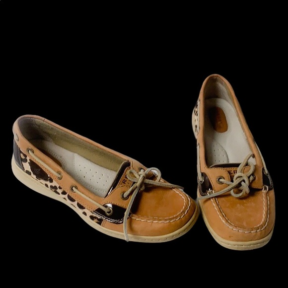 Sperry Shoes - Sperry Top Sider Leopard Print Women's Shoes 7.5